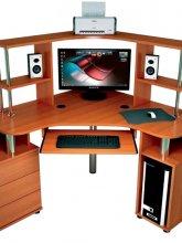 Угловые компьютерные столы С-870 с надстройкой 822