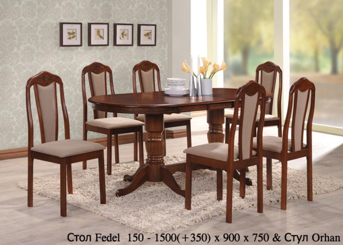 мебель для кухни купить аристократичные стол Fedel и стулья Orhan