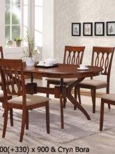 Стол Deniz 1.5м и стулья Bora