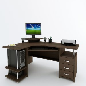 Угловой компьютерный стол С 224 БН